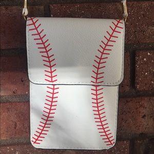 Handbags - Adorable Baseball Crossbody NWT